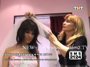 Токарева в свадебном платье